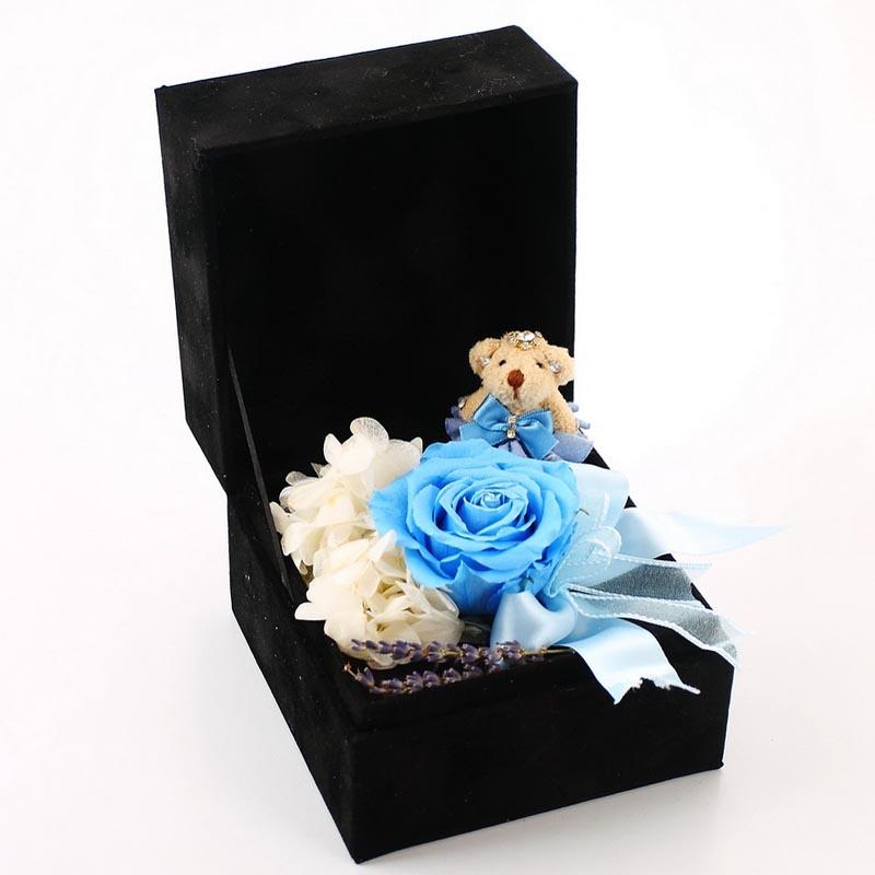 拉萨永生花:保鲜花-玫瑰小熊J款