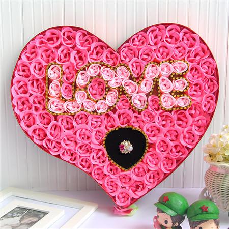 拉萨肥皂花:100朵love戒指粉色