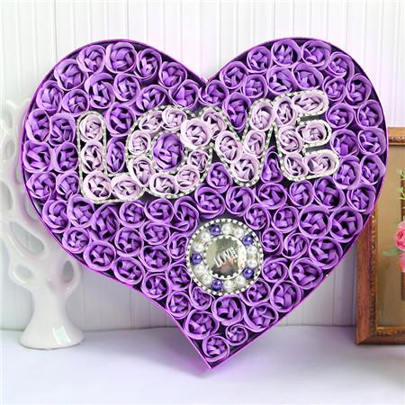 瑞安肥皂花:100朵love手链紫色