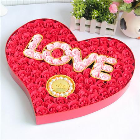 太原肥皂花:100朵love手链红色
