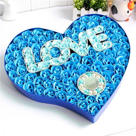 长沙肥皂花:100朵love手链蓝色