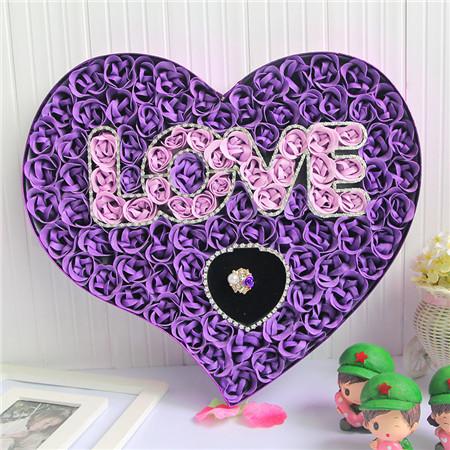无锡肥皂花:100朵love戒指紫色
