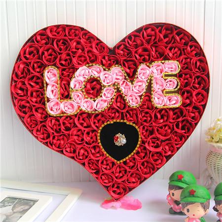 烟台肥皂花:100朵love戒指红色