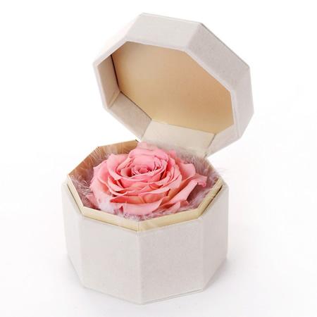 无锡永生花:保鲜花 单朵粉玫瑰