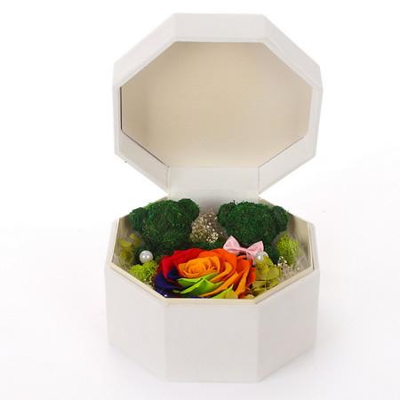 太原鲜花:保鲜花 2只小号苔藓熊