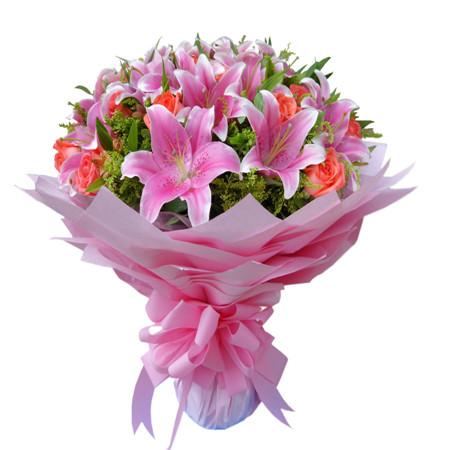 太原鲜花:粉色爱情