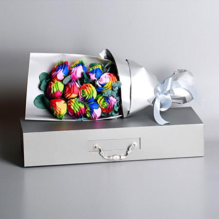 拉萨肥皂花:七彩香皂花-11支装 全花束