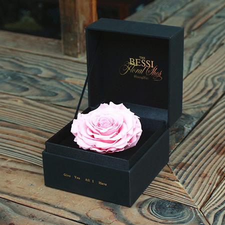 无锡永生花:永生花 粉色玫瑰