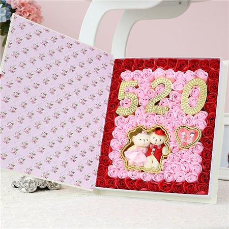 嘉兴肥皂花:99朵520小熊书