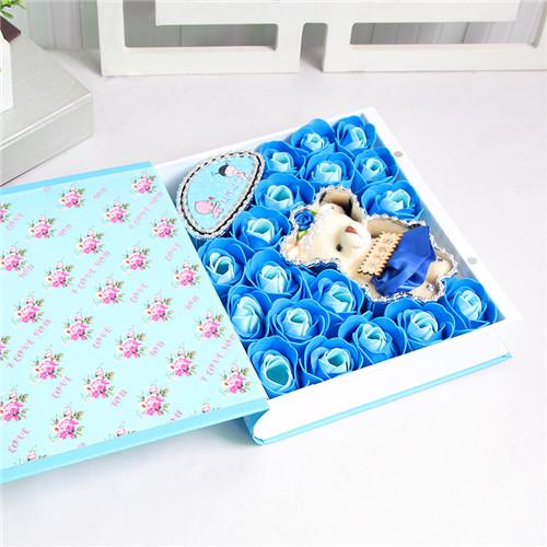珠海肥皂花:18朵蓝色书本教师节快乐
