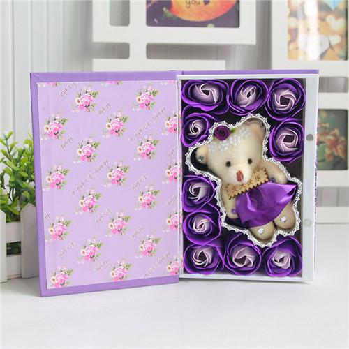 拉萨肥皂花:10朵书本桃李满天下+小熊紫色