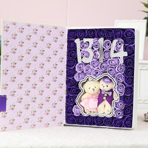 苏州肥皂花:香皂花1314+抱熊 紫色
