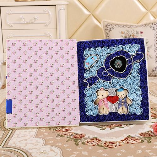 海阳肥皂花:一箭穿心+牵手熊蓝色