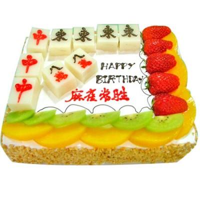 景德镇珠山区鲜花-麻将蛋糕