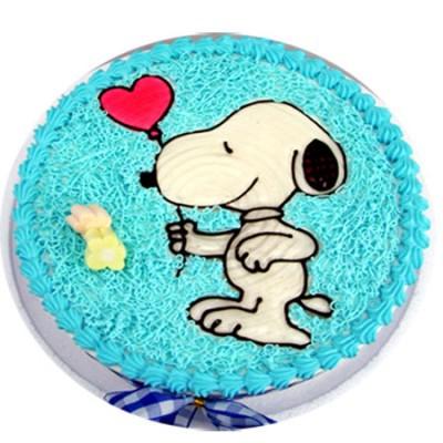 太原生日蛋糕:快乐小狗