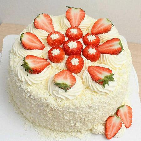 无锡生日蛋糕:草莓幸福快乐