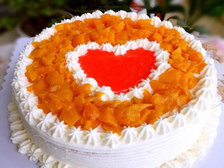 西安长安区鲜花-芒果鲜奶蛋糕
