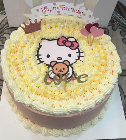 海阳生日蛋糕:小Katie猫