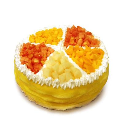 西安长安区鲜花-榴莲蛋糕