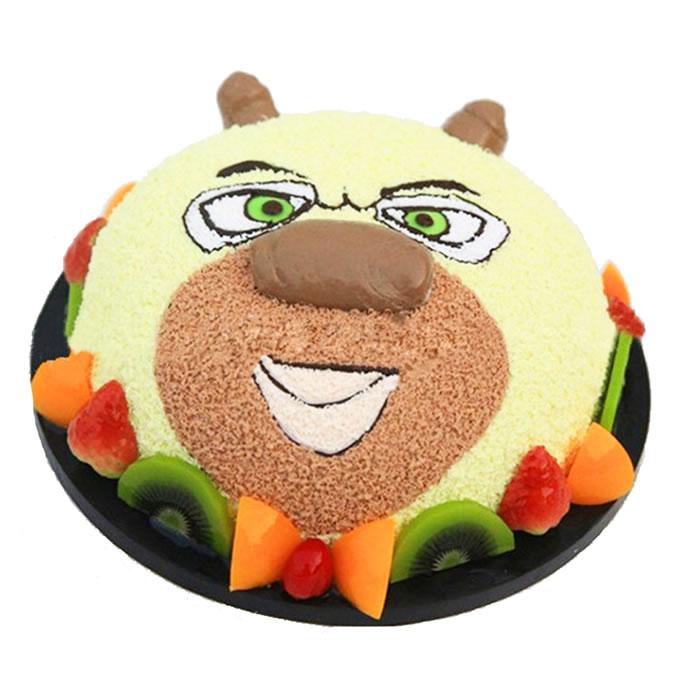 儿童蛋糕-熊大