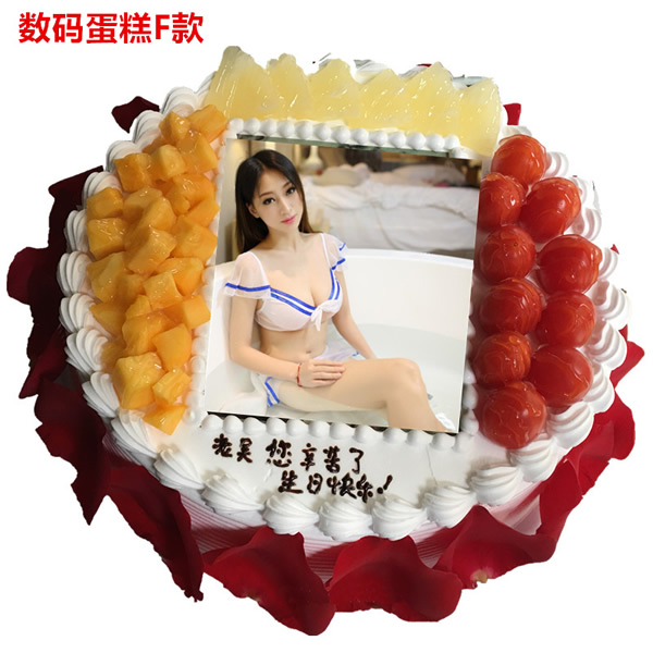 无锡滨湖区鲜花-数码蛋糕-吻你