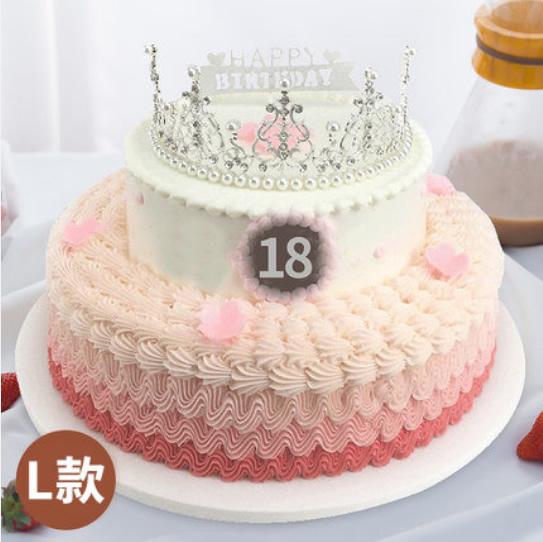 怀来鲜花-皇冠生日蛋糕L款