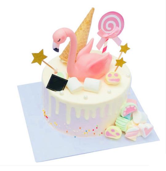 网红火烈鸟鲜奶蛋糕
