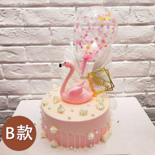 陇南武都区鲜花-网红火烈鸟蛋糕B款
